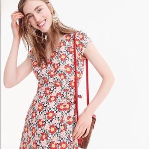 NWT J. Crew mercantile floral wrap dress